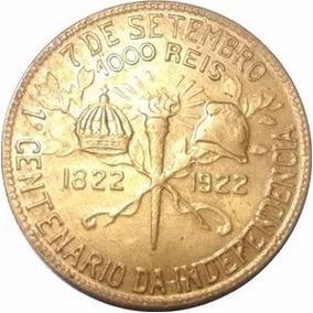 Moeda 1000 Reis 1822 1922 Centenário