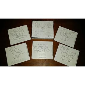 Box Com 5 Quebra Cabeças Mdf Infantil