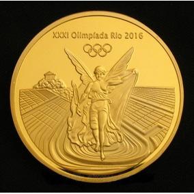 Moeda Ouro Olimpiadas Rio 2016 - Medalha - Frete Em 2 Opções