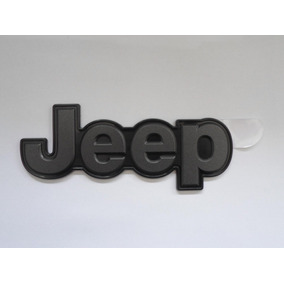 Emblema Jeep Mala Renegade Grafite Base Preta Original