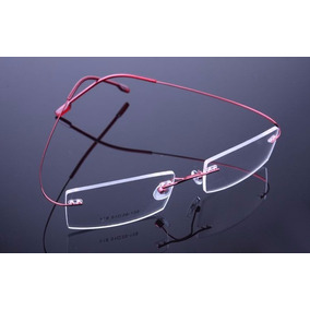 a52590b2b Armação Óculos Grau Sem Aro Feita De Titanium Vermelho A406. R$ 69 99