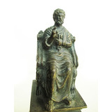Figura, Escultura Antigua En Bronce Y Marmol