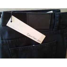 Jeans Negro Calvi Klein Talla 32x32 100%orig Cod 1 010