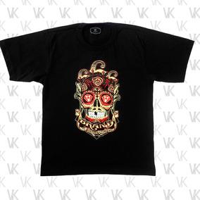 Camiseta Masculina Caveira Olho De Diamante De Algod o - Camisetas ... 83426760a0