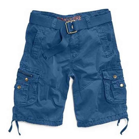 Bermudas 10 Cargo Nino Shorts Ring Of Fire Azul Cinto Super!