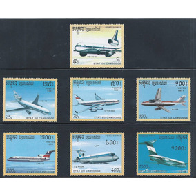2584 - Camboja Aviação 1991 Serie Completa Nova