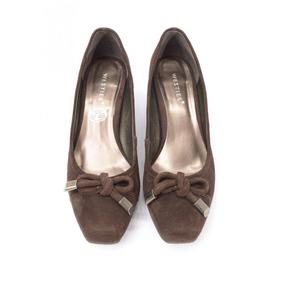 Zapatos De Gamuza Café Westies