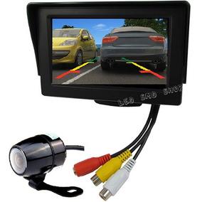 Tela Lcd 4,3 Vídeo + Câmera Estacionamento Ré Monitor Dvd