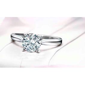 Anillo Con Diamante Cultivado De 150 Pts. Y Oro 18k