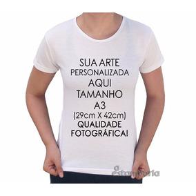Camiseta Estampa Personalizada Fotografia Melhor - Camisetas no ... 4d7e94d782abb