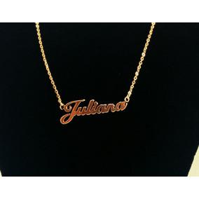 6f515ae25813f Corrente Com Nome Em Ouro Juliana - Joias e Relógios no Mercado ...