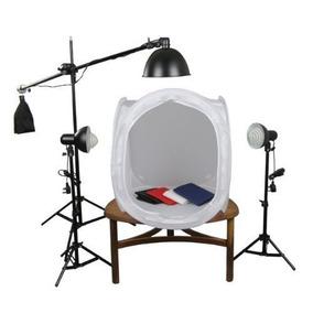 Kit Mini Estúdio Fotog Iluminação De 220v - Greika - Pk-st10