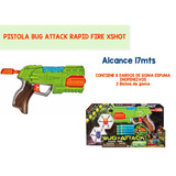 Pistola Caño X-shot Bug Attack Rapid Fire + Bichos