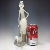 Figura Lladro De Porcelana Española Pintada A Mano Antigua