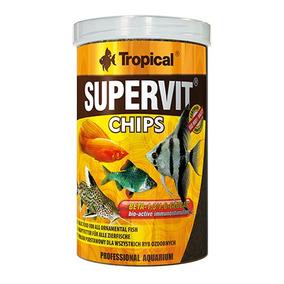 Ração Para Peixes Tropical Supervit Chips 130g 250ml