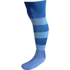 25e79e78da Meião De Futebol Listrado Azul Bic Com Celeste Kit 25 Pares