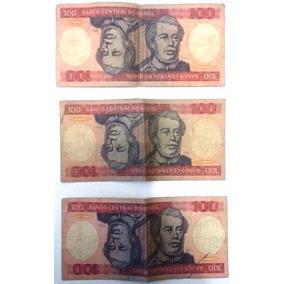 Nota Antiga 100 Cruzeiros - Lote C/3 - Raras.