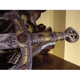 Espada Medieval Longa Templarios Aco