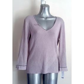 Sweater Tejido Hoyitos Jones Wear Morado Lila Tallla S