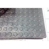 Piso Borracha Moeda Reciclado 50x50 - Kit Com 16 Peças