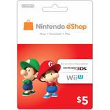 Nintendo Eshop Card - 5 Dolares - Manvicio Store - !!!