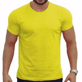 Kit Com 7 Camisa Slim Fit Camiseta Básica Lisa - Masculina