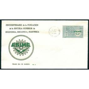 Mexico 1966 Esc Esime Sobre Con Timbre Especial 1er Dia Ofic