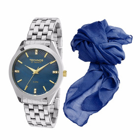 Kit Relógio Technos Feminino Elegance 2036low k1a + Brinde f1446ab26b