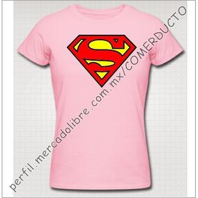 Playera Superman Dama Rosa Playera Para Dama Superman