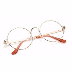 91e79bd85034a Armação Óculos Metal Redondo Acessório Descanso Retro Bp. 4 cores
