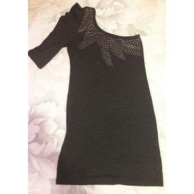 Vestido Para Mujer Gris/negro Talla S