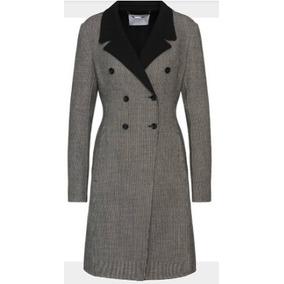 Remate Finísimo Coat Abrigo Gabardina Lana Fob By Forecaster