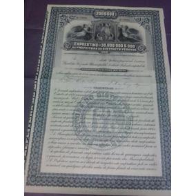 Apolice Da Prefeitura Do Districto Federal - 1906.