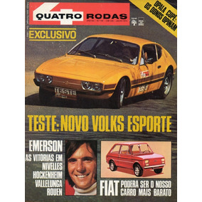 Quatro Rodas Nº144 Julho 1972 Vw Sp2 Emerson Fittipaldi