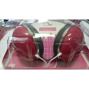 Fone De Ouvido Multilaser Em Arco Super Rosa Sem Microfone