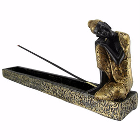 Incensário Buda Hindu Tailandês C/ 8 Incensos - Feng Shui