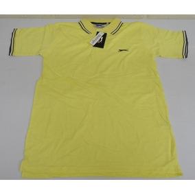 Camisa Polo Slazenger P Amarela Nova Etiqueta Inglaterra