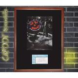 Guns N Roses Poster Con Firmas Y Entrada Año 1991 Axl Slash