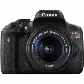 Camera,maquina P/ Youtuber Canon Eos Rebel T6i Dslr C/18-55