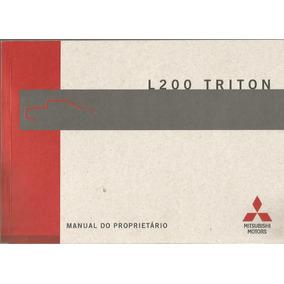 Manual Proprietário L200 Triton 2013 Kit Completo Bols Couro