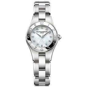 Reloj Baume & Mercier Linea Acero Con Diamantes 10011 Ghiber