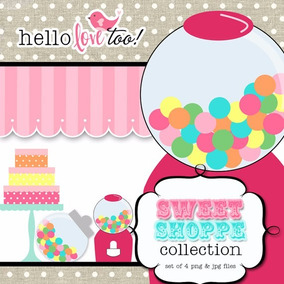 Kit Scrapbook Digital Candy Bar Imagens Clipart Cod 2