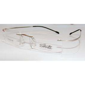 6c1aa36ecaa1f Armação Oculos Grau Flexivel Silhouette Titanium S Aro Prata
