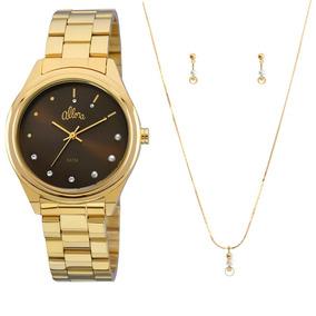Relogio Feminino Dourado - Relógio Allora Feminino em Rio de Janeiro ... 4a88430c83