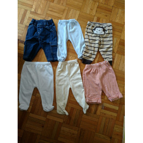 Lote De 6 Pantalones Para Bebé Talla 6 Meses fdbfa85ca096