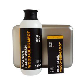 Kit Presente Óleo P/ Barba + Shampoo P/ Barba Wood Bergamot