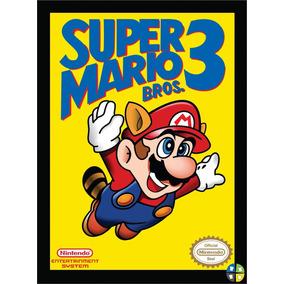 Quadro Poster Super Mario Bros 3 Nintendo Com Moldura A3