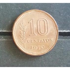 M 0007 Moeda Antiga Argentina 10 Centavos 1970