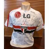 Camisa São Paulo Libertadores 2006 Autografada + Medalha