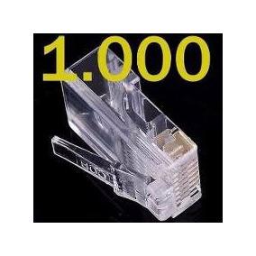 Conector Plug Rj45 Cat5e 1000 Unidades Cabo De Rede Lan